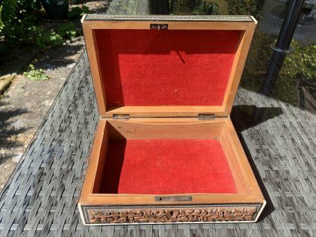 Eastern Carved Sandlewood Box